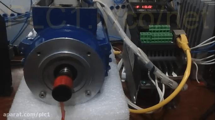 حرکت موتور القایی مشابه سروو موتور