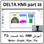 آموزش HMI دلتا ، 35 ، Meter , Graph , Pipe , Pie