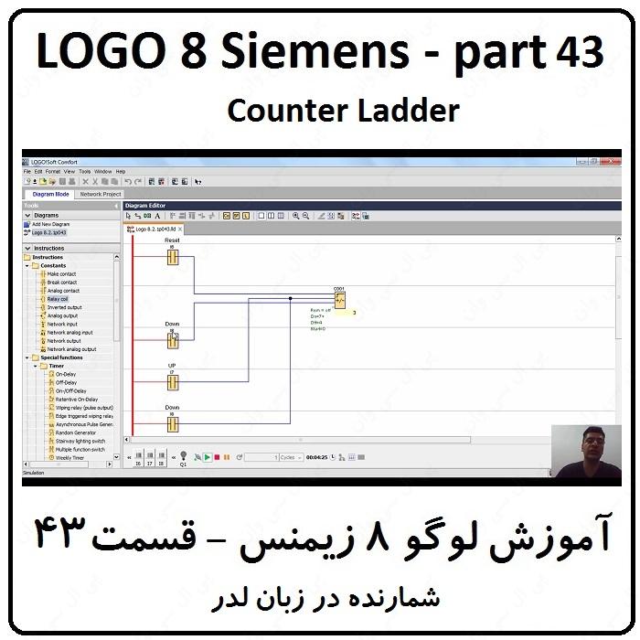 آموزش LOGO زیمنس ، 43 ، شمارنده در زبان لدر