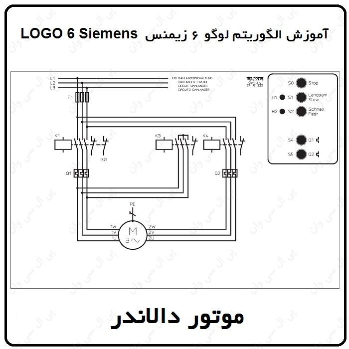 آموزش الگوریتم لوگو 6 زیمنس ، 7 ، موتور دالاندر