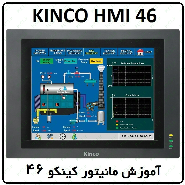 آموزش HMI کینکو ، 46 ، ارتباط سخت افزاری PLC و HMI